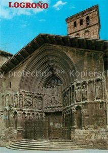 AK / Ansichtskarte Logrono Fachada principal de la Iglesia de S Bartolome Logrono