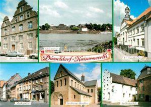 AK / Ansichtskarte Kaiserswerth Altes Zollhaus Rheinpartie Ev Stadtkirche Marktpartie Suitbertus Basilika Zolltuermchen Kaiserswerth