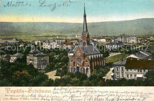 AK / Ansichtskarte Teplitz Schoenau_Sudetenland_Bad Kirche Stadtansicht Teplitz Schoenau_Sudetenland