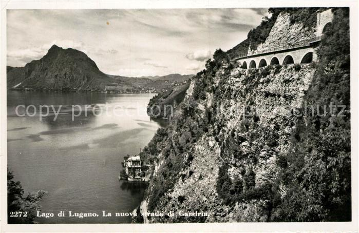 AK / Ansichtskarte Gandria_Lago_di_Lugano Nuova strada di Gandria Luganer See Gandria_Lago_di_Lugano