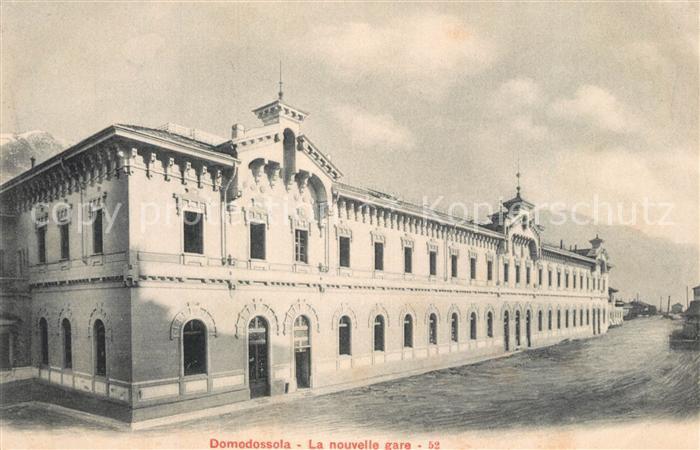 AK / Ansichtskarte Domodossola La nouvelle gare Domodossola