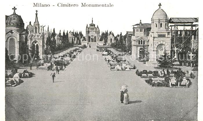 AK / Ansichtskarte Milano Cimitero Monumentale Milano