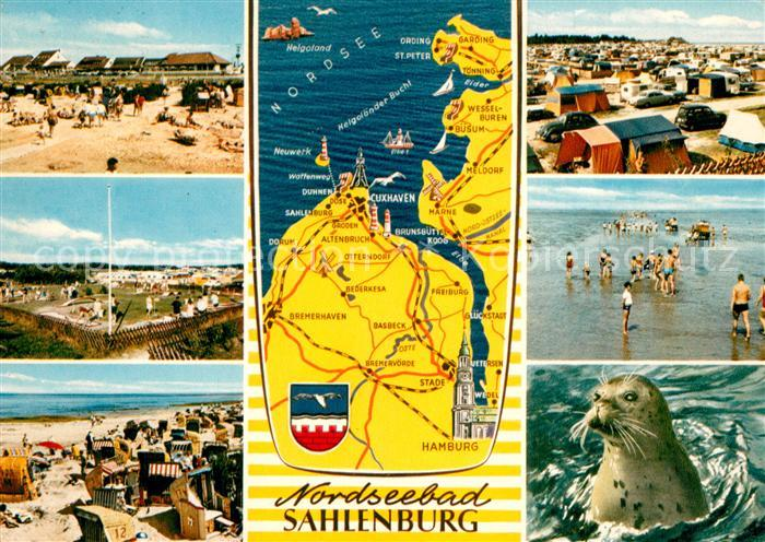 AK / Ansichtskarte Sahlenburg Seehund Strand Camping Sahlenburg