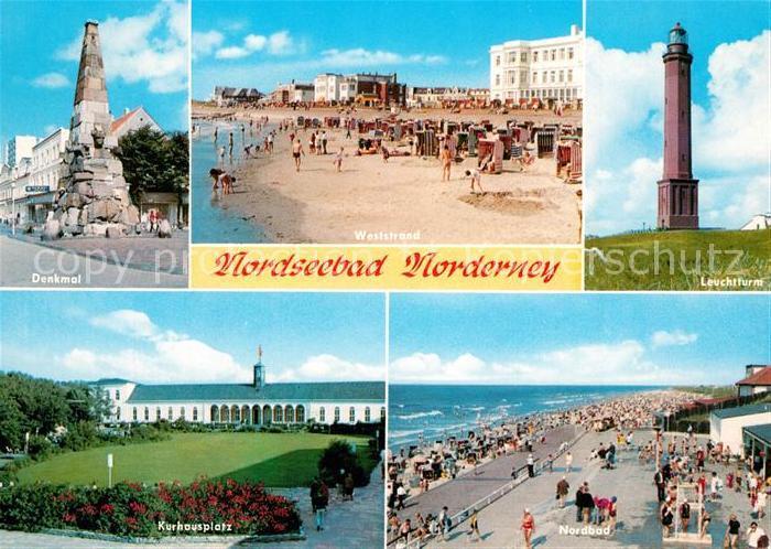 AK / Ansichtskarte Norderney_Nordseebad Leuchtturm Denkmal Kurhausplatz Norderney_Nordseebad