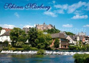 AK / Ansichtskarte Marburg_Lahn mit Schlossblick Marburg_Lahn
