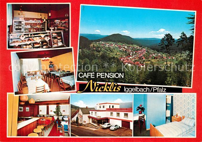 AK / Ansichtskarte Iggelbach Cafe Pension Nicklis Landschaftspanorama Iggelbach