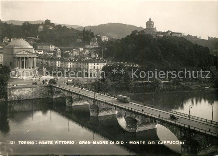 AK / Ansichtskarte Torino Ponte Vittorio Gran Madre di Dio Monte dei ...