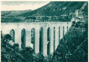 AK / Ansichtskarte Spoleto Il Ponte delle Torri Bruecke der Tuerme Bauwerke Spoleto