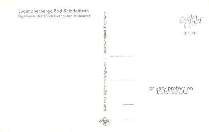 AK / Ansichtskarte Bad_Salzdetfurth Jugendherberge  Bad_Salzdetfurth 1
