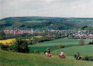AK / Ansichtskarte Staudernheim Panorama Pferde Reiter Staudernheim