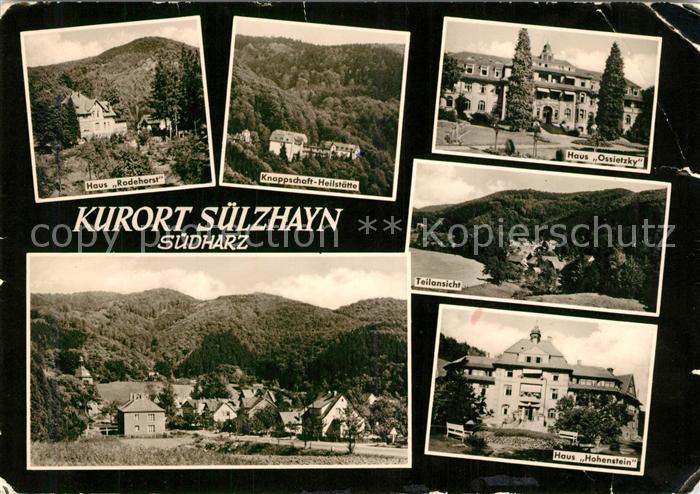 AK / Ansichtskarte Suelzhayn Haus Rodehorst Knappschaft Heilstaette Haus Ossietzky Teilansicht Haus Hohenstein Suelzhayn