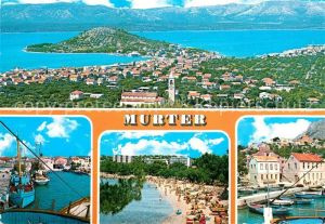 AK / Ansichtskarte Murter_Kroatien Fliegeraufnahme Bootshafen Strandpartie Murter Kroatien