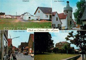 AK / Ansichtskarte Erlensee Ostgebiet Alter Wehrturm Friedrich Ebert Str Alte Schule Erlensee