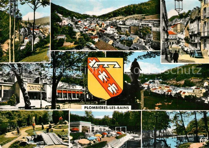 AK / Ansichtskarte Plombieres les Bains_Vosges Rue Stanislas Casino Golf miniature Petit Moulin Parc Plombieres les Bains
