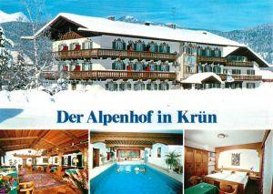 AK / Ansichtskarte Kruen Alpenhof Winter Hallenbad  Kruen