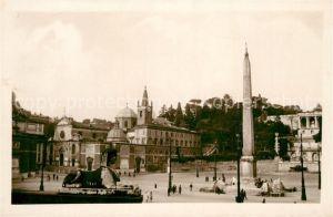 AK / Ansichtskarte Roma_Rom Piazza del Popolo Monumento Roma_Rom