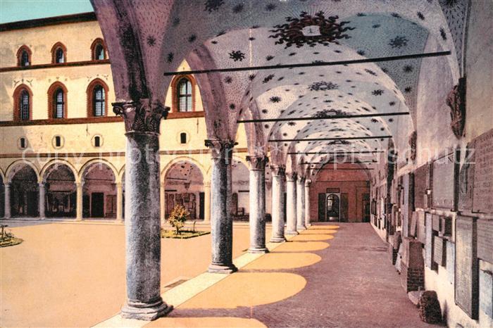 AK / Ansichtskarte Milano Castello Sforzesco Cortile della Rocchetta Milano