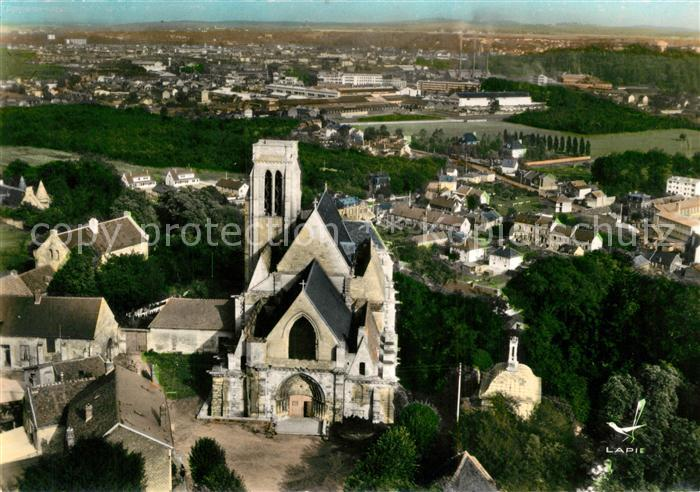 AK / Ansichtskarte Montataire Eglise et vue panoramique veduta aerea Montataire