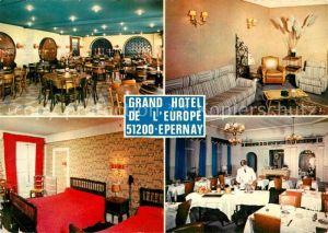 AK / Ansichtskarte Epernay_Marne Grand Hotel de l Europe Restaurant Epernay Marne