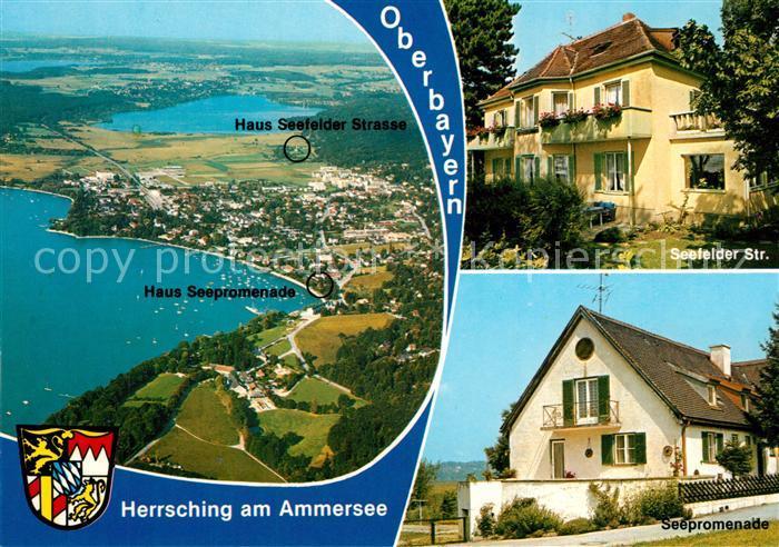 AK / Ansichtskarte Herrsching_Ammersee Fliegeraufnahme Seepartie Seepromenade Seefelder Str. Herrsching Ammersee