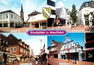 AK / Ansichtskarte Emsdetten Kirchstrasse Rheiner Strasse Emsstrasse Emsdetten