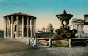 AK / Ansichtskarte Roma_Rom Il Tempio di Vesta Fontana Tempel Brunnen Roma_Rom