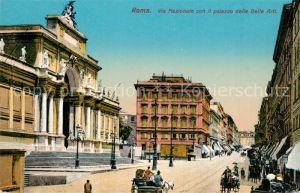 AK / Ansichtskarte Roma_Rom Via Nazionale con il Palazzo delle Belle Arti Roma_Rom