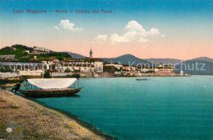 AK / Ansichtskarte Arona_Lago_Maggiore Veduta del Porto Arona_Lago_Maggiore