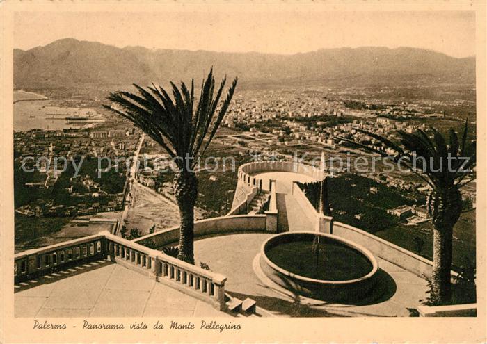 AK / Ansichtskarte Palermo_Sicilia Panorama visto da Monte Pellegrino Palermo_Sicilia