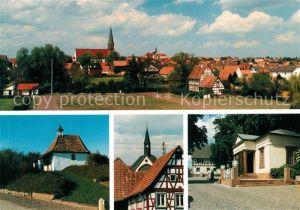 AK / Ansichtskarte Herxheim_Pfalz Panorama Landauer Kapelle Paulusstift Kiregerdenkmal Herxheim Pfalz