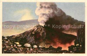 AK / Ansichtskarte Napoli_Neapel Vesuvio in eruzione Vulkan Vesuv Vulkanausbruch Natur Napoli Neapel