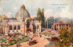 AK / Ansichtskarte Milano Padiglione del Sud America Cartolina Officiale Esposizione Kuenstlerkarte Milano