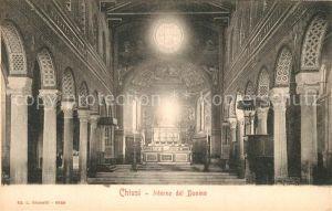 AK / Ansichtskarte Chiusi Interno del Duomo Chiusi