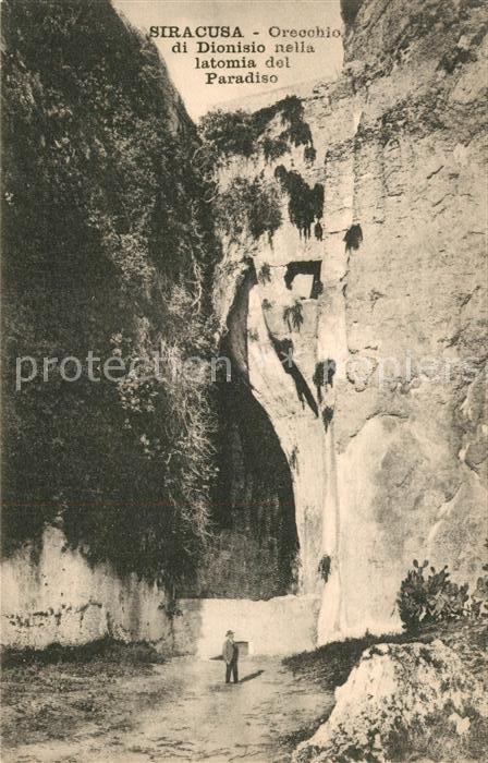 AK / Ansichtskarte Siracusa Orecchio di Dionisio nella latomia del Paradiso Siracusa
