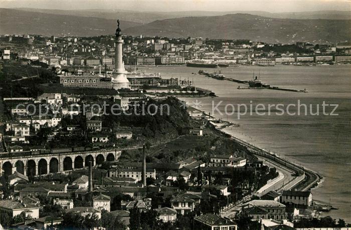 AK / Ansichtskarte Triest Panorama da Barcola Triest