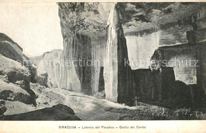 AK / Ansichtskarte Siracusa Latomia del Paradiso Grotta dei Cordai Siracusa