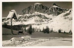 AK / Ansichtskarte Dolomiti Motivo d'inverno verso Sass Ciampatsch Dolomiti