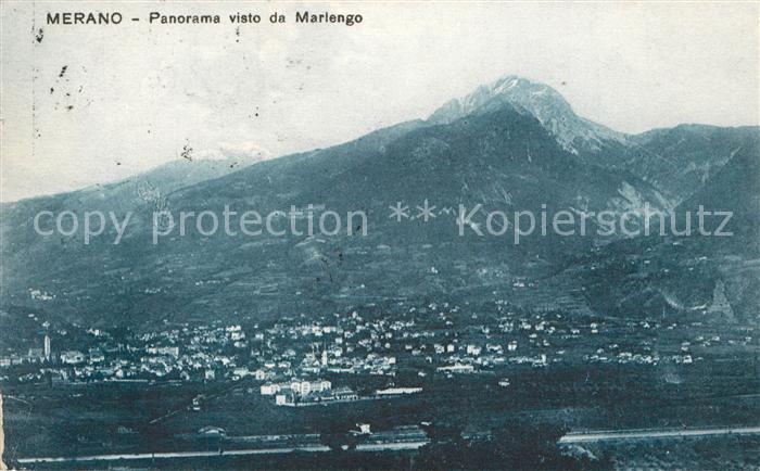AK / Ansichtskarte Merano_Suedtirol Panorama visto da Marlengo Merano Suedtirol