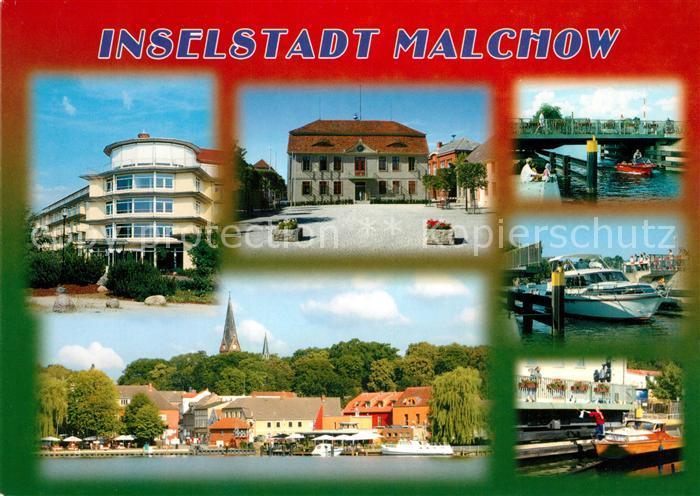 AK / Ansichtskarte Malchow Stadtansichten Panorama Malchow
