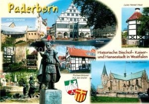 AK / Ansichtskarte Paderborn Rathaus Denkmal von Spee Dom Paderborn