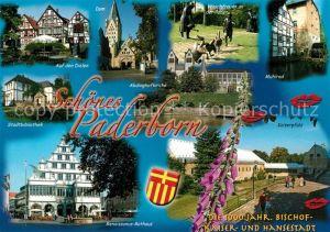 AK / Ansichtskarte Paderborn Kaiserpfalz Rathaus Muehlrad  Paderborn