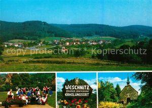 AK / Ansichtskarte Weschnitz Panorama Kirche Volkstanzgruppe Weschnitz