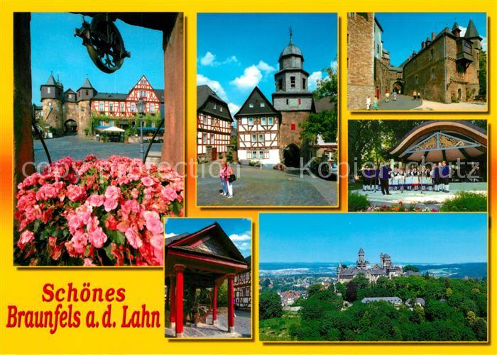 AK / Ansichtskarte Braunfels Schloss Stadttor Konzerthalle Panorama Braunfels