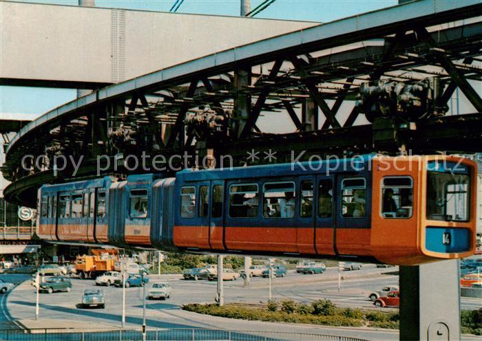 AK / Ansichtskarte Wuppertal Schwebebahn Alten Markt Wuppertal