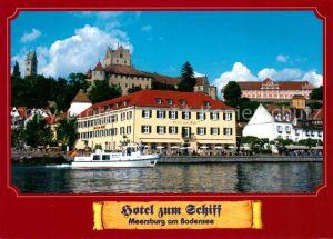 AK / Ansichtskarte Meersburg_Bodensee Hotel Zum Schiff Ansicht vom See aus Meersburg Bodensee