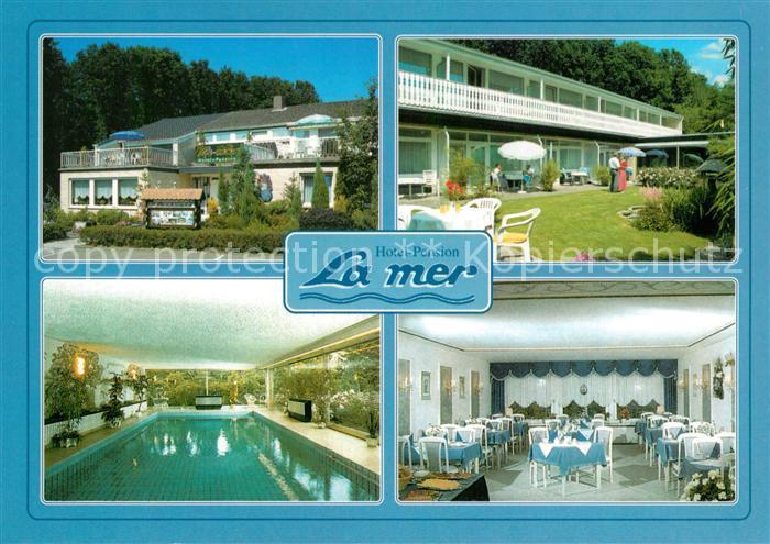 AK / Ansichtskarte Bad_Zwischenahn Hotel Pension La mer Hallenbad Restaurant Kurzentrum Bad_Zwischenahn