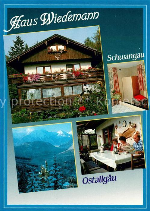 AK / Ansichtskarte Schwangau Gaestehaus Pension Haus Wiedemann Alpenpanorama Schwangau
