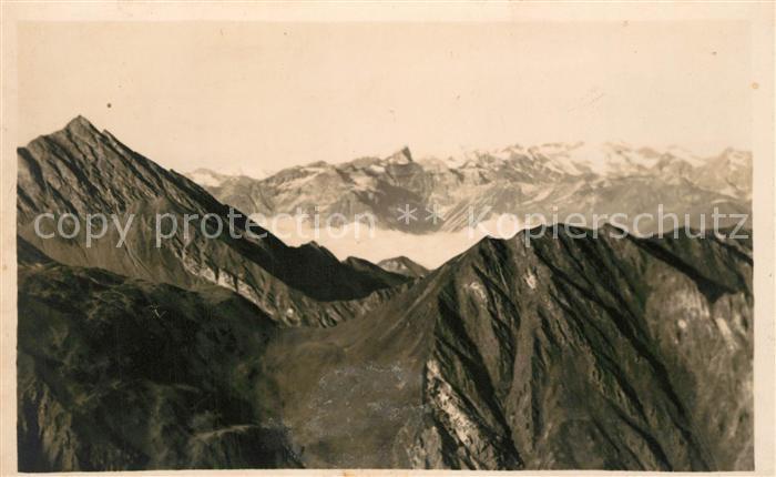 AK / Ansichtskarte Tux Frauenwand Panorama oetztaler Alpen Stubaier Alpen Tux