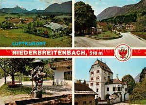 AK / Ansichtskarte Niederbreitenbach Teilansichten Luftkurort Brunnen Kapelle Schloss Schoenwoerth Niederbreitenbach
