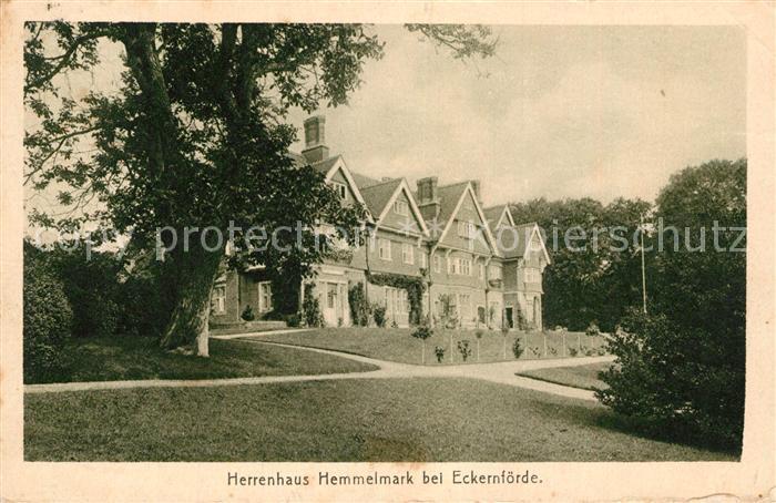 AK / Ansichtskarte Eckernfoerde Herrenhaus Hemmelmark Eckernfoerde